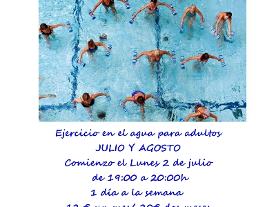 Cartel de aquagym